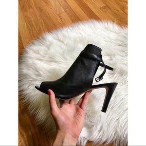 Franco Sarto Black Peep-toe Heels